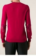 Burberry Dockley Mens V Neck Sweater XL 44 54 Patches