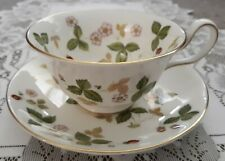 "Wedgwood ""Wild Strawberry"" Cups &  Saucers - Bone China"