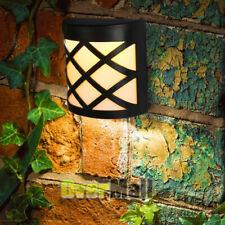 6LED Solar Power Dusk to Dawn Light Outdoor Yard Garden Wall Lamp Warm White