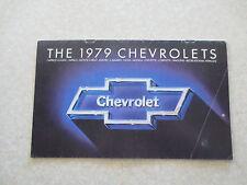 1979 Chevrolet cars advertising booklet Camaro Corvette Caprice Impala Malibu