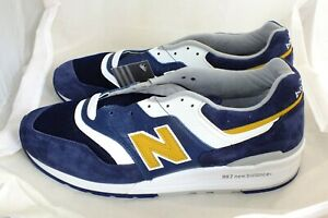 NEW BALANCE MENS BRAND NEW M997PAN SNEAKERS SIZE 11 D BLUE/WHITE/YELLOW