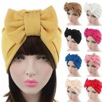 New Women Bowknot Bonnet Chemo Hijab Turban Cap Beanie Hat Head Scarf Wrap