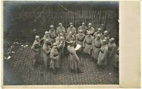 PLATOON WW1 FRENCH CORP. ALLIES RPPC ANTIQUE PHOTO POSTCARD