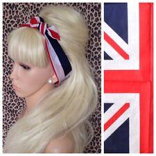 UK UNION FLAG COTTON BANDANA HEAD HAIR NECK SCARF 40s PIN UP PATRIOT GB BRITAIN