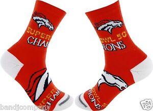 Denver Broncos  Super Bowl Youth Socks 13 1-5 Rare Limited on Hand Only