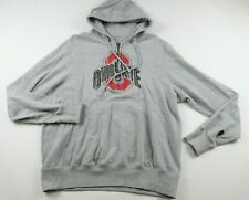 Ohio State Buckeyes Mens LS 1/4 Zip Gray Hoodie Sweatshirt by Izod Collegiate L