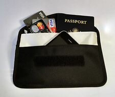 RFID Passport CellPhone Credit Card Anti Spy Blocke Pouch. Stops GPS RFID RF