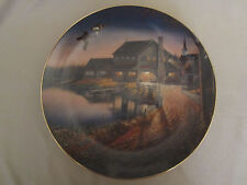 THE DUCK INN collector plate SAM TIMM Cabin WOOD DUCKS Wildlife