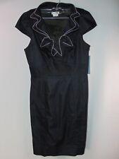 NWT London Times Women's 10 Blue Denim Style Zipper Collar Casual Dress Skirt