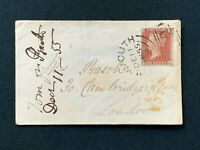 Postal History, Cover Plymouth to Cambridge Square, London 1855, Rasch, RF6