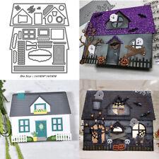 Halloween House Metal Cutting Dies Stencil Scrapbooking Embossing DIY Card Craft