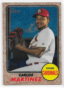 2017 Topps Heritage High Number Chrome /999 #706 Carlos Martinez - Cardinals