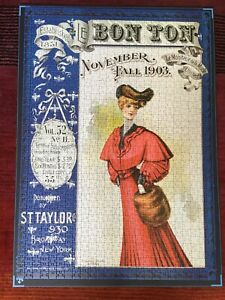 Piatnik Bon Ton Magazine Cover 1903 1000 pc Jigsaw Vintage Art.