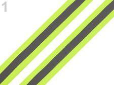 Reflexband Reflektorband neon gelb silber reflektierend Band Zierband  26mm br