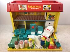 Fisher Price #931 Play Family Hospital Near Complete Ambulance