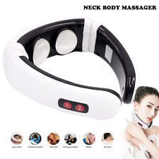 Electric Lumbar Neck Back Massage Pillow Cushion with Heat Car Home Office Use