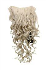 Postiche avec 7 Crochets Clip-In 3/4 Perruque Demi-Perruque Blond Clair 50cm