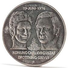50 Kronen Carl XVI Gustaf Silvia Münze Schweden 1976 Silver coin Sweden