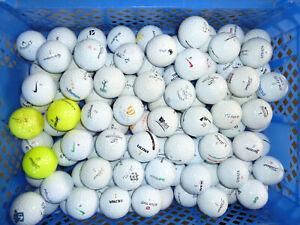 100 gebrauchte Golfbälle mit Gebrauchsspuren, für Anfänger + 30 Gratisbälle