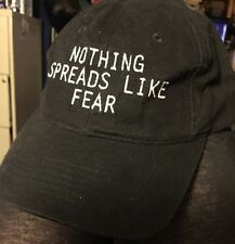 """Contagion"" Movie Ball Cap Hat 2011 Nothing Spreads Like Fear NEW"