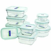 18-Piece Glass Assorted Set Food Storage Oven Safe Container Bowls Locking Lids