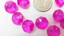 🇦🇺 50 Agrade 14mm crystal octagon suncatcher beads lilac chandelier pendant 1h