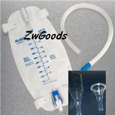 Complete Set-up 7 Condom Catheters Self-Seal Large 36mm / With a leg bag