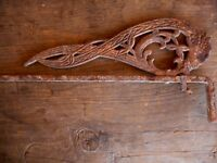Antique Salvaged Ornate Cast Iron Drapery for Decoration only rusted Wall Hang