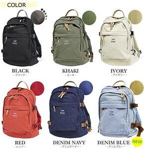 100% Authentic! Anello AH-C1681 Cotton Canvas Backpack Rucksack 6 Color Japan