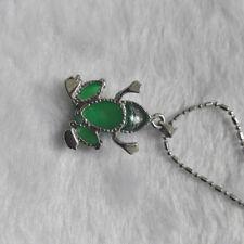 Wholesale Chain Tibet Green Natural Beautiful Necklace Jade Frog Pendant