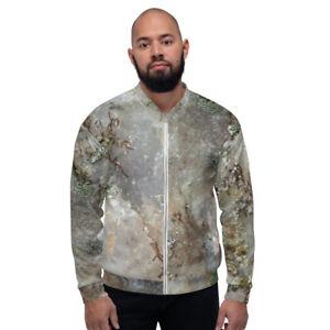 Quartz Moss Lichen Unisex Bomber Jacket