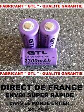 3 Piles 16340 3.7V 2300mAh Rechargeable Mignon - GTL - TRES PUISSANT - DE FRANCE