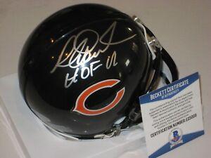 RICHARD DENT Signed Chicago BEARS Mini-helmet w/ Beckett COA & HOF Inscrip