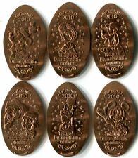 2010 Tokyo Disneyland Holidays - Complete Set Of 6 Retired Copper Pressed Coins