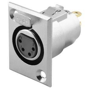 Audio Mikrofon Einbaukupplung Einbaubuchse Ersatzbuchse 4polig zum Einbau Pin