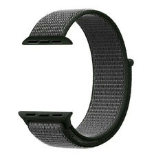 Nylon Bracelet Noir Montre Band Scratch Apple Watch Black 42mm Compatible pour