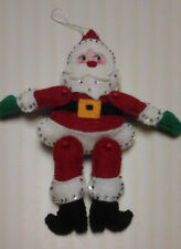 Plush Santa Ornament With Rhinestone Bling