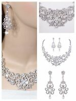 Wedding Jewellery Austrian High Quality Crystal Bridal Necklace Earring Set