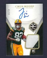 2018 Panini Limited J'MON MOORE Rookie Patch Auto 41/50 Packers RC SP