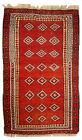 Hand made antique Uzbek Gulyam rug 3.4' x 5.5' ( 104cm x 170cm ) 1920 - 1C278