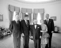 President John F. Kennedy with Hubert Humphrey and VP Lyndon Johnson Photo Print