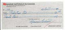 Maurice Richard Autographed Auto Returned Cheque