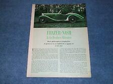 1965 Frazer-Nash Sports Car History Info Article