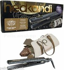 HAIR STRAIGHTENERS GIFT SET CERAMIC PLATED 210 DEGREES CASE ACCES HED KANDI