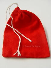 1 x RED FLANNEL BAG -  MOJO -  CONJURE BAG Wicca Pagan Witch Goth Spell