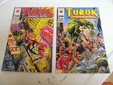 LOT 2 * VALIANT COMICS * TUROK *1993 # 2.  & 1994  # 11.   F/F