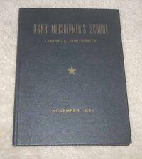 1944 USNR Midshipmen School Cornell University Yearbook