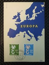 SAAR MK 1958 439/40 EUROPA UNION CEPT MAXIMUMKARTE MAXIMUM CARD MC CM a6015