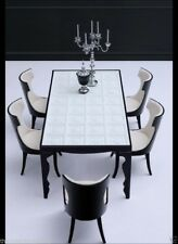 Dining Table - Modern Dining Room Table - Solid Birch Wood - Black Dining Table
