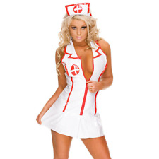 Sexy Women Lingerie Nurse Set Costume Cosplay Uniform Babydoll Dress UK STOCK